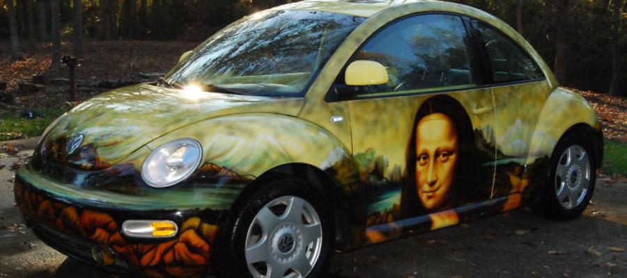 Mona Lisa VW Beetle