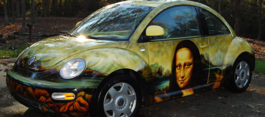 Mona Lisa VW Beetle