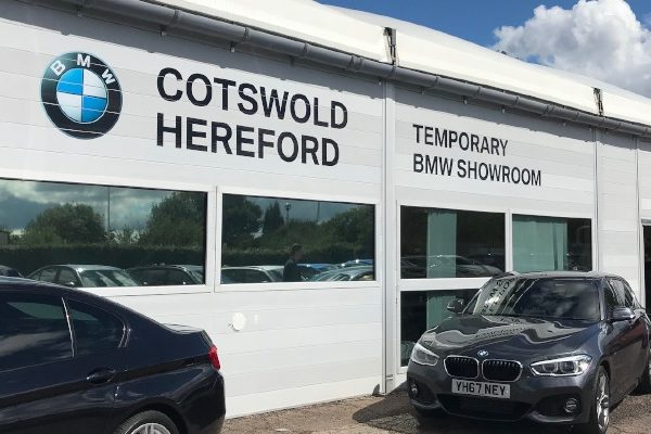 Cotswold Hereford BMW's temporary car showroom