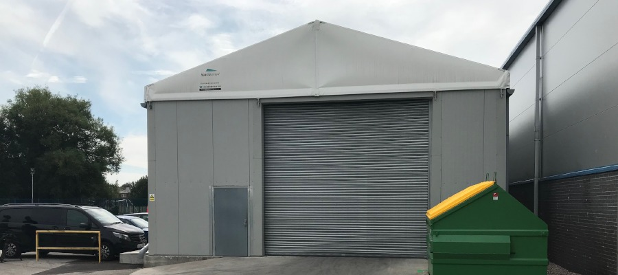 The 200sqm insulated building at Foilco in Warrington.