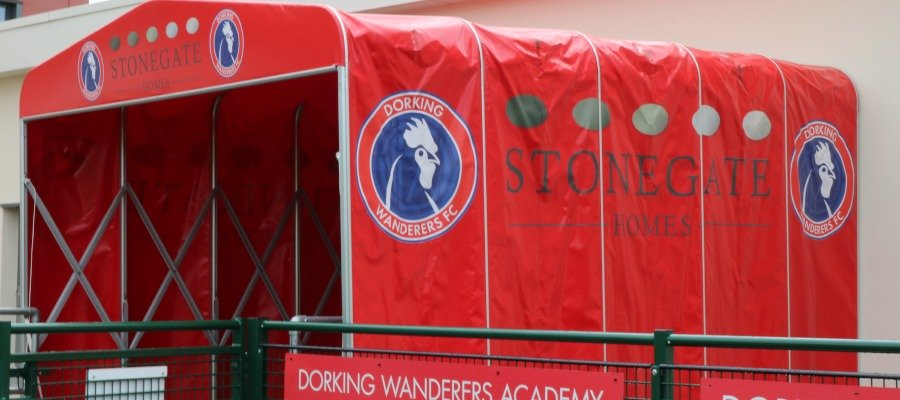Dorking Wanderers FC players' tunnel.