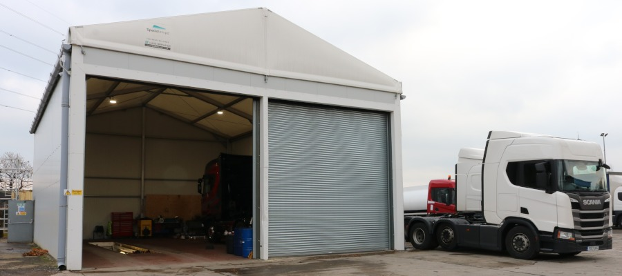External photograph of the Neivalu warehouse at Scania Preston