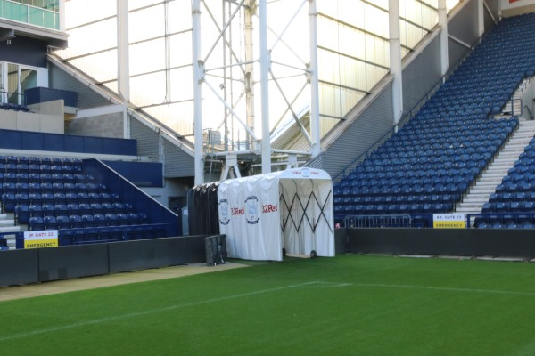 The Spaciotempo players' tunnel at Preston North End FC.
