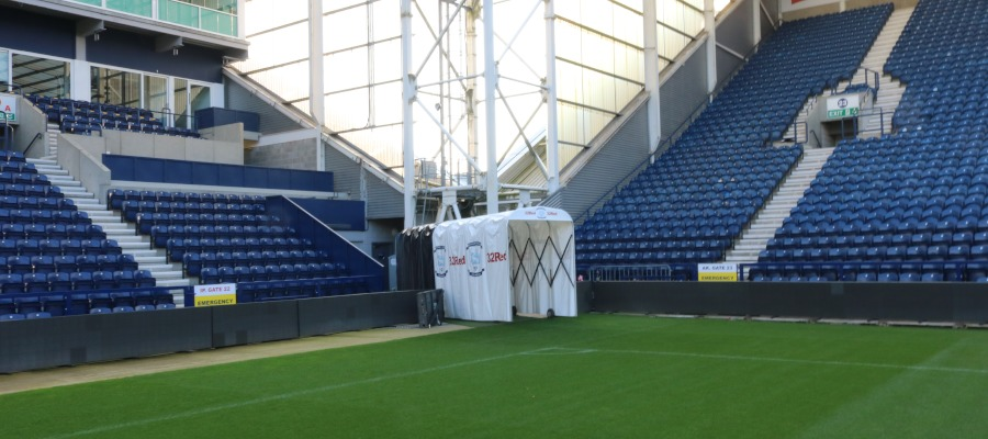 The Spaciotempo players' tunnel at Preston North End FC.