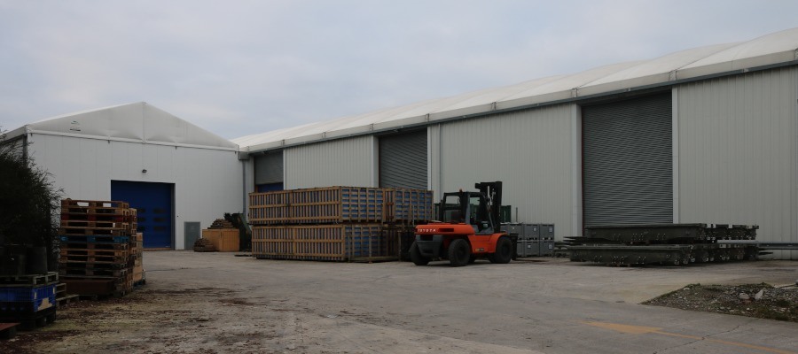 The exterior of the extended temporary building at WFEL.