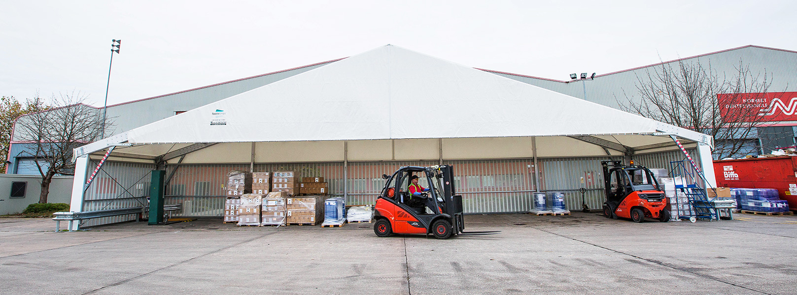 industrial loading bays and canopies